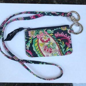 Vera Bradley ID/ coin purse w/ matching lanyard